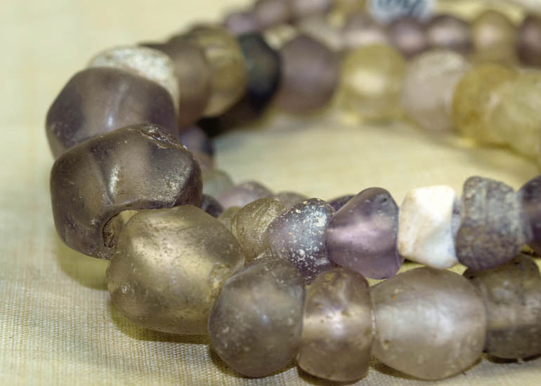 Ancient Pink-Purple Quartz Beads