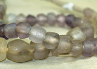 Strand of 300 Year Old Dogon Pink-Purple Glass Beads