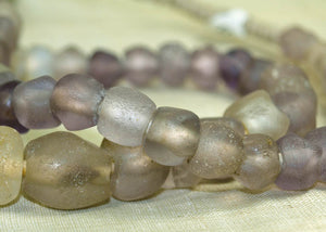 Strand of Ancient Pink-Purple Quartz Beads