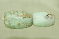 Set of two Ancient Amazonite Beads