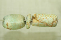 Set of Three chunky Ancient Amazonite Beads