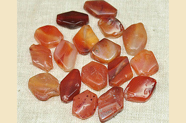 Diamond Shaped Ancient Carnelian Stone Beads