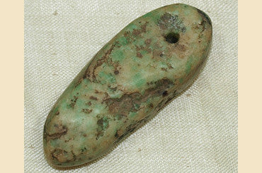 Large Ancient Amazonite Pendant