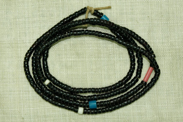 Black 8º Seed Beads with random color beads