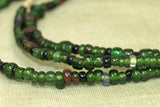 Strand of Emerald-Green Beads