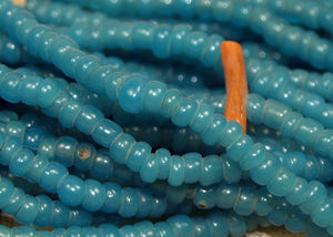 Greasy Cerulean Blue 11º Seed Beads