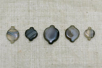 Striated Black Agate Beads from Nepal/Tibet