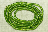Transparent Light Green seed beads, 8º