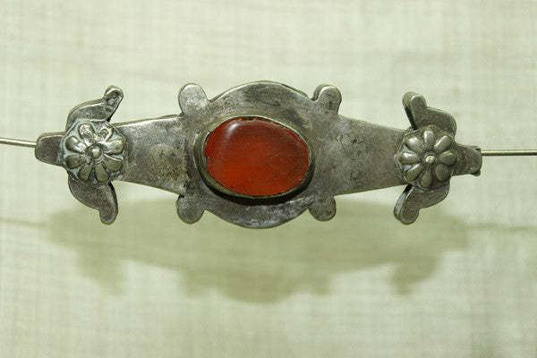 Old Large Turkman Silver Pendant