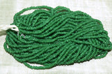 Vintage Greasy Grass Green 10º Seed Beads