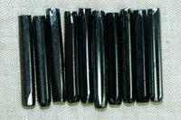 Vintage Gray Hematite Faceted Glass Tubes