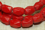 Vintage Dark Red Glass Beads
