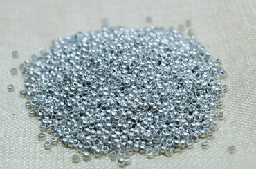 "Aluminum ""Size 4"" smooth Seed Beads"