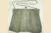Antique Silver Mesh Purse
