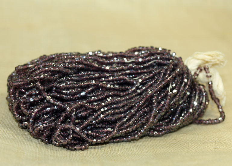 Large Hank of 3-cut Amethyst Luster Seed Beads