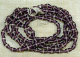 Cool Antique Art Deco Amethyst Glass Beads