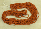 Small Hank of Vintage 1920s Brown-Orange Mini-Tubes