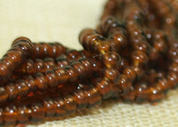 Mini Hank of Very Dark Topaz Seed Beads