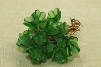 Italian Glass Flowers on Wire - Transparent Green