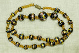Vintage Black Wedding Cake Beads from 1930s