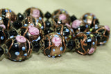 Vintage Black Wedding Cake Beads from 1940s