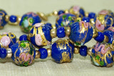 Antique Blue Wedding Cake Beads