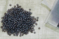 13° Vintage French Amethyst Luster Seed Beads