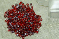 Lovely 9° Vintage Venetian Cherry and Amethyst White Hearts