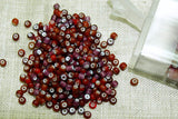 Lovely 10° Vintage Venetian Red and Amethyst White Hearts