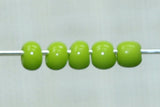11° Vintage Venetian Opaque Yellow-Green Seed Beads