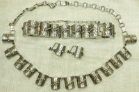 Vintage Sterling Silver 3 Piece Set, Mexico 1950s