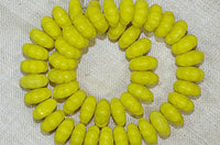 Vintage Czech Glass Beads - Bright Yellow Flowers