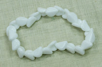 Funky White German Glass Beads