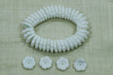 Vintage German Glass White Flower Beads