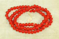 Vintage Japanese Glass Coral Beads