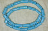 "Vintage Japanese Glass Beads - Powder Blue ""Bones"""