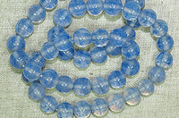 Vintage Japanese Glass Beads,  Opal-Blue strand