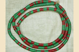 Green and Red 6mm Vinyl Disc Beads