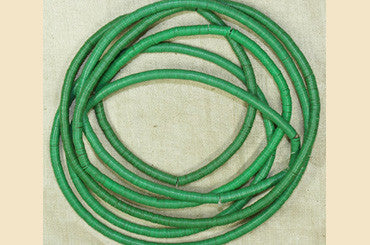 4mm Grass Green Vinyl Discs Beads from Africa