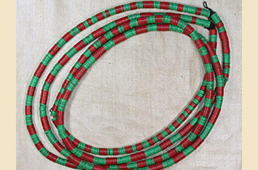 Green & Red 6mm Vinyl Disc Beads from Africa
