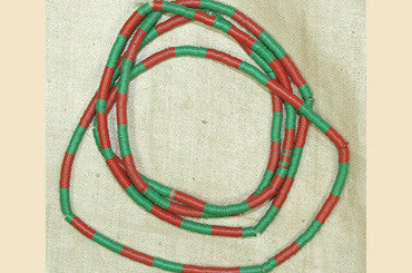 Tiny 3mm Red and Green Disc Beads