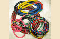 Mixed set of 3mm-15mm Vinyl Disc Beads; 10 Strands
