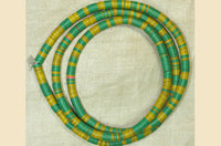 6mm Yellow and Green Vinyl Disc Beads