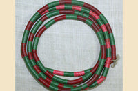 4mm African Vinyl Disc Beads; Pink, Green, Red