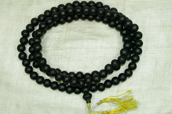 Large Wood Black Prayer Beads