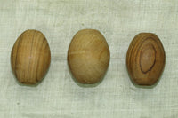 Set of 6 Vintage Wood Macrame Beads