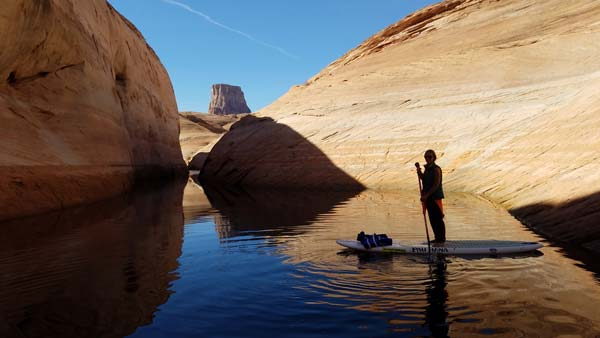Lake Powell, Arizona stand up paddle boarding