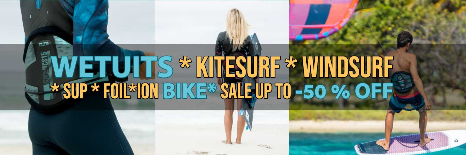 Outlet Wetsuits, Kitesurf, Windsurf, SUP, Bike