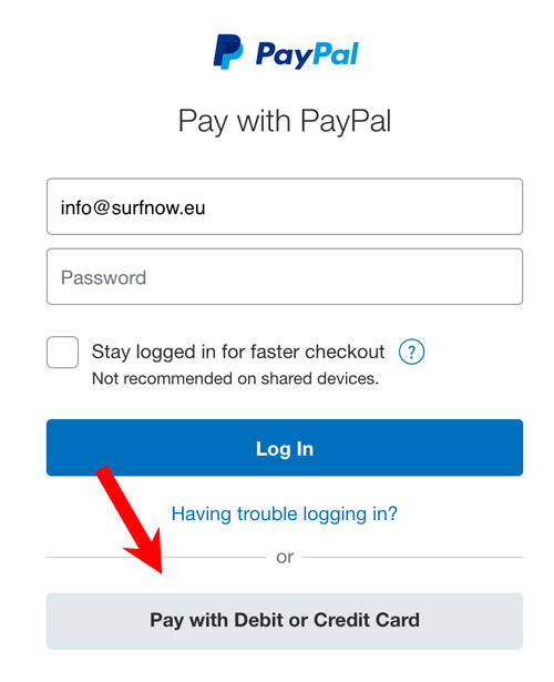 pay with creditcard with paypal