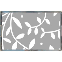 Grey Poetical Acrylic Tray